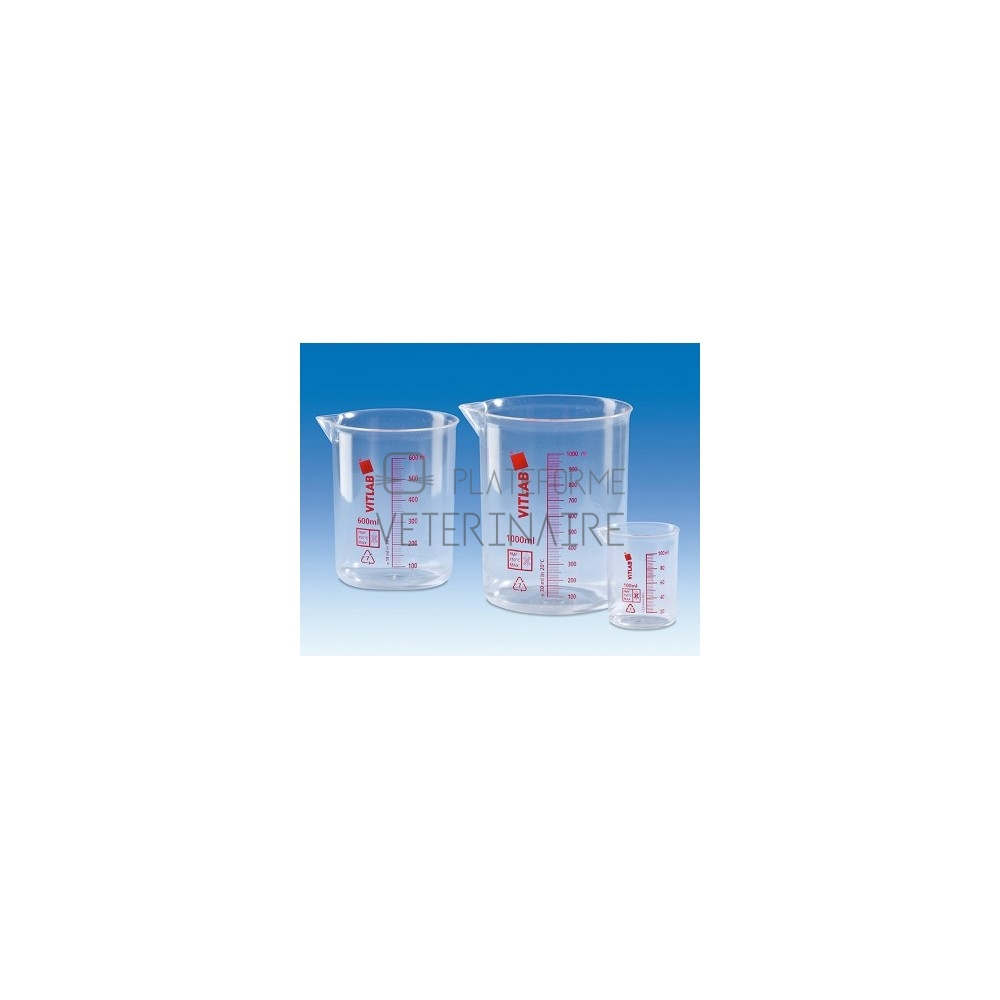BECHER PLASTIQUE PMP ROUGE    100 ML
