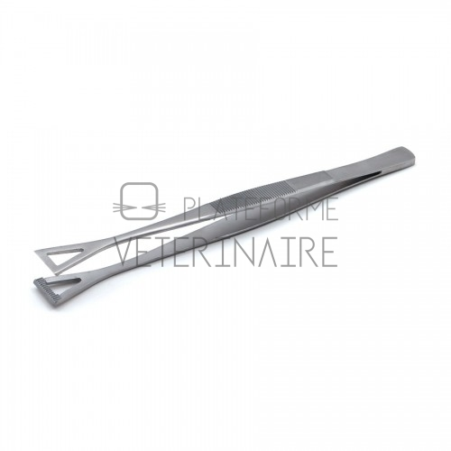 PINCE DISSECTION DE COLLIN DUVAL TRIANGULAIRE 20 MM