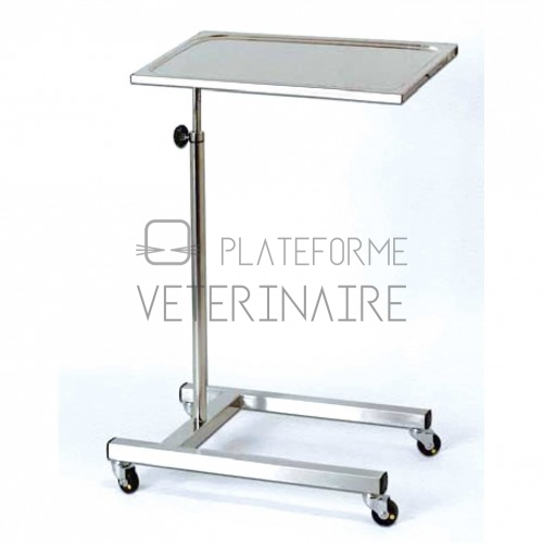 TABLE DE MAYO INOX 600 X 430