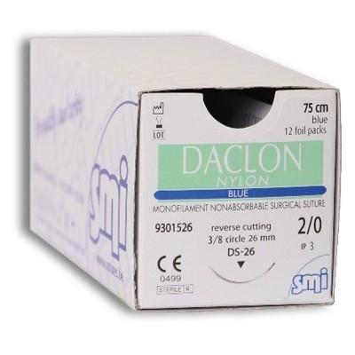 DACLON NYLON DEC.3 (2/0) PR 1/2 20MM 75CM (X 12)