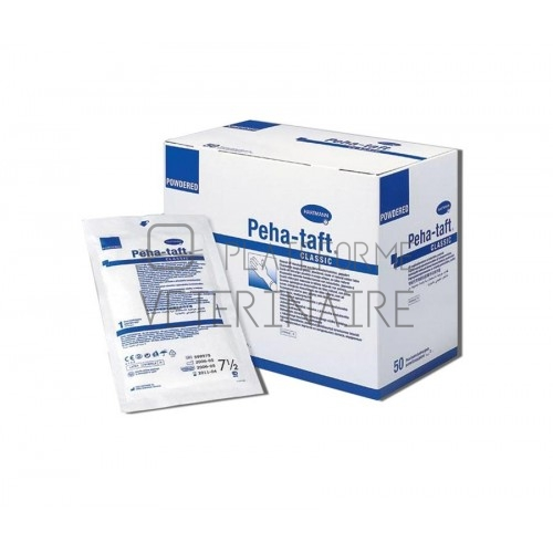 GANTS CHIRURGIE STERILE LATEX  T. 8,5 PEHA TAFT CLASSIC (X 50 PAIRES)