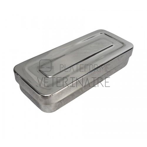 BOITE INOX A INSTRUMENTS 420 X180 X 70 MM