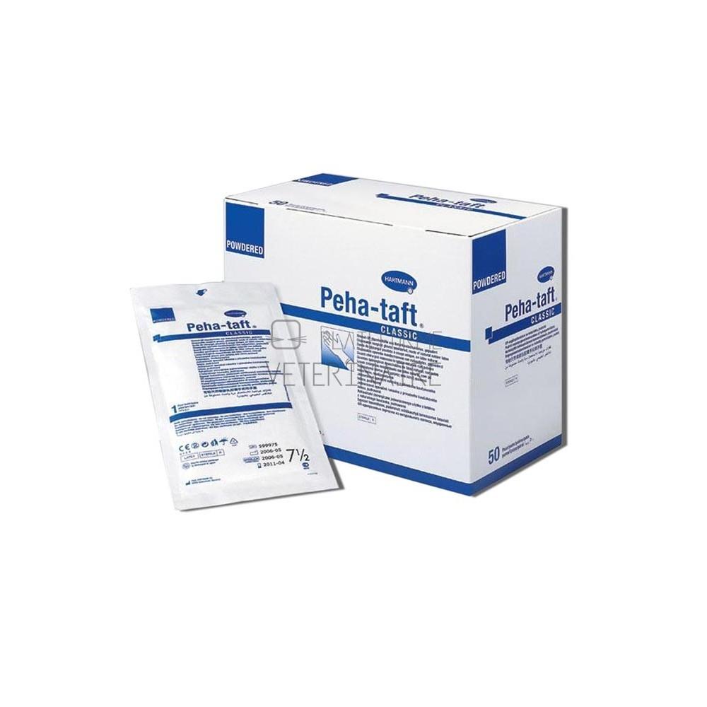 GANTS CHIRURGIE STERILE LATEX T.6,5 PEHA TAFT CLASSIC (X 50 PAIRES)