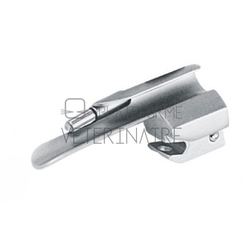 LAME LARYNGOSCOPE STANDARD MILLER 77 MM N° 0