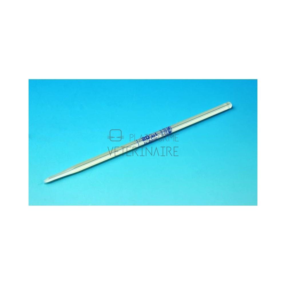 MICROPIPETTE EN VERRE GOWER (SAHLI) 20 µL