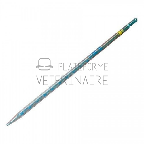 PIPETTE GRADUEE VERRE  1 ML 1/100 ECOULEMENT TOTAL