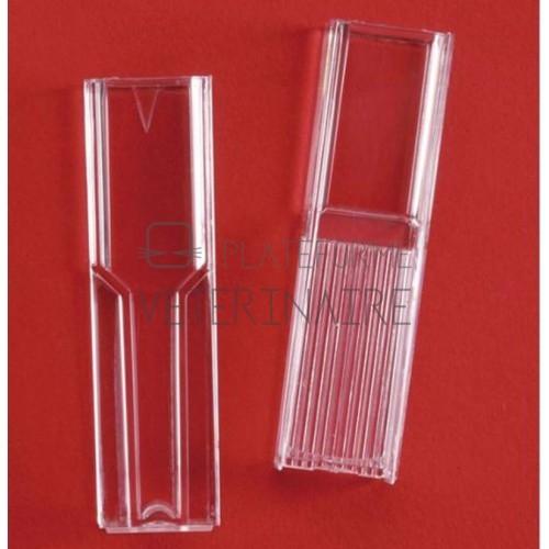 CUVE POUR SPECTROPHOTOMETRE PLASTIQUE MICRO 1,5ML (X 100)